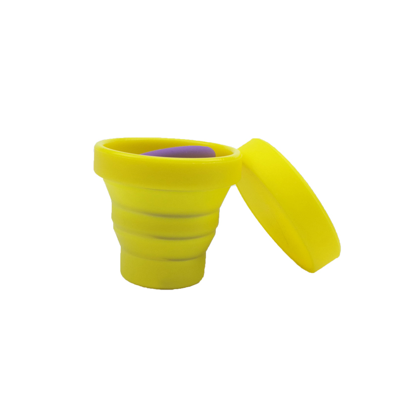 Camping Portable And Collapsible Food Grade Folding Silicone Rubber Drinking Cups