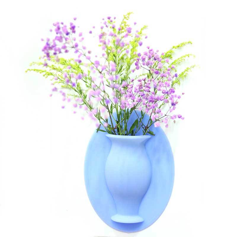 Self-adhesive wall hanging Silicone vase mold for room decoration