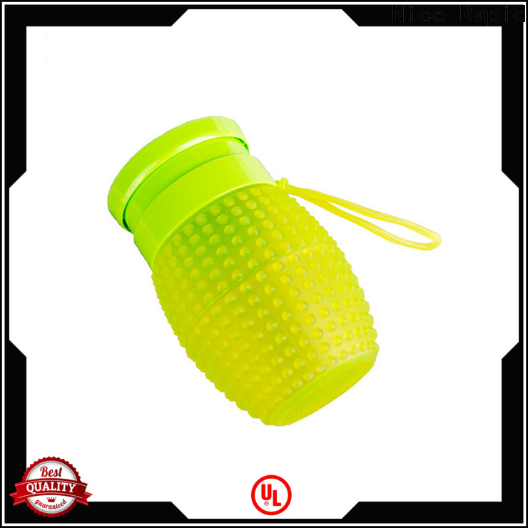 Latest silicone folding water bottle Supply for camping