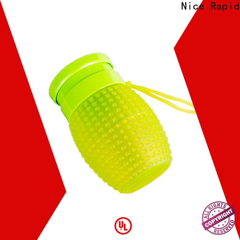 Nice Rapid New sport silicone portable foldable water bottle manufacturers for travelling