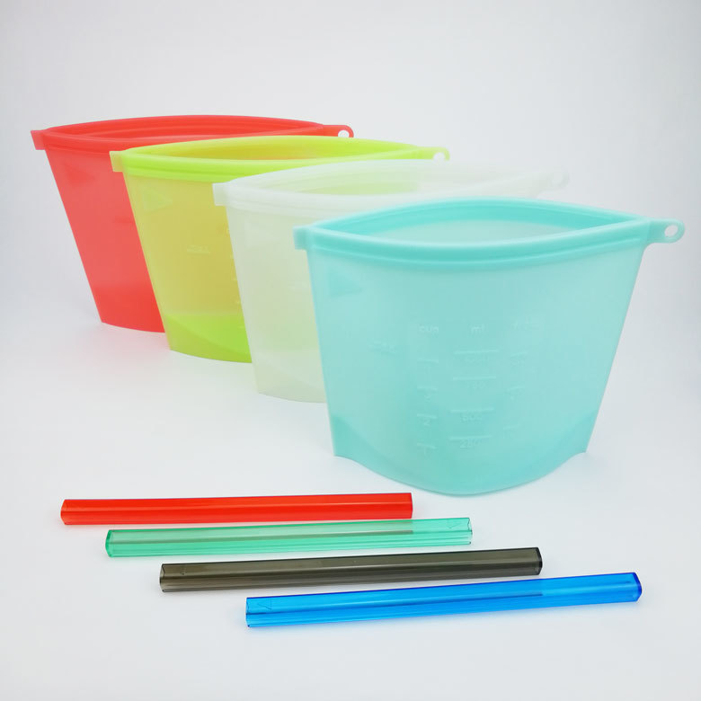 Reusable Leak Proof Silicone Vacuum Bag Mold for Food Storage