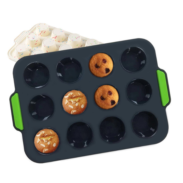 Food Grade Silicone Cube Trays Mold for Baking Cup Cake Toast Bread