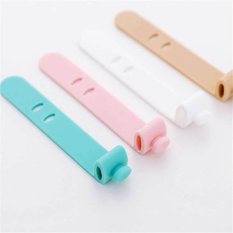 Silicone Cable Ties Mold for Earphone Cord Strap Line Storage