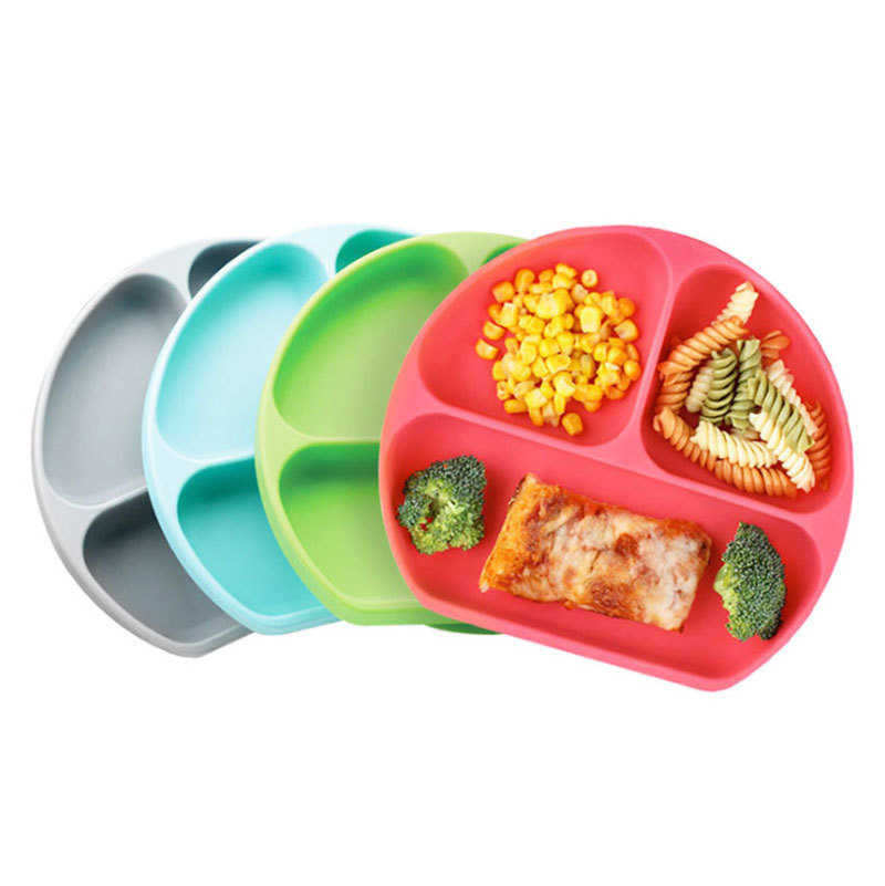 Silicone Bowl Plate Mold for Baby Self-eating Habit Practise