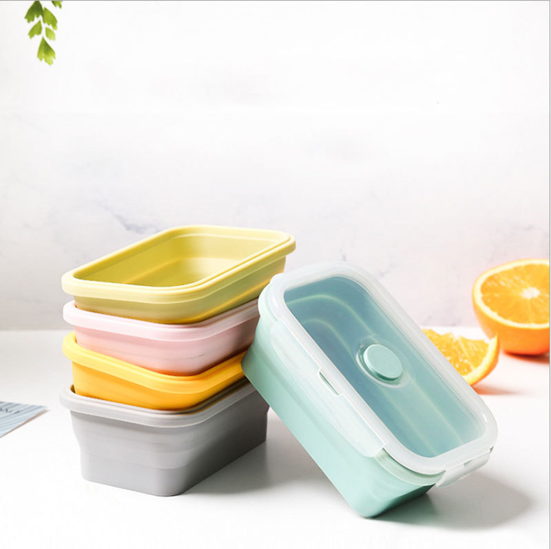 Silicone Lunch Box Mold for Food Storage Collapisible Container