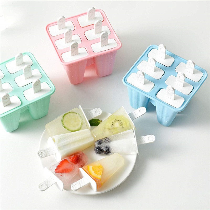 Silicone Tray Mold for Ice Cream Pop Popsicle DIY Freezer Cuber Mold
