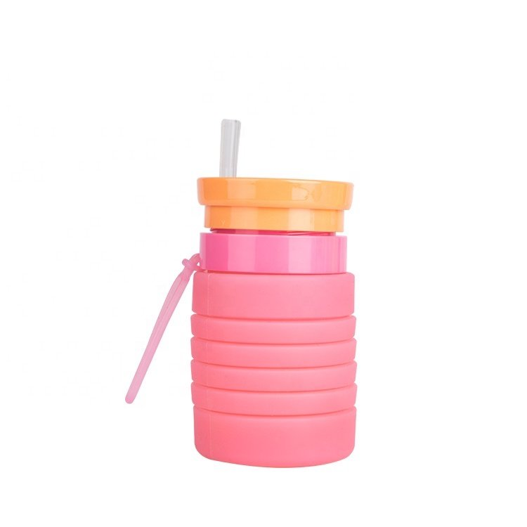 Collapsible Silicone Water Bottle Mold for Traving Drinking