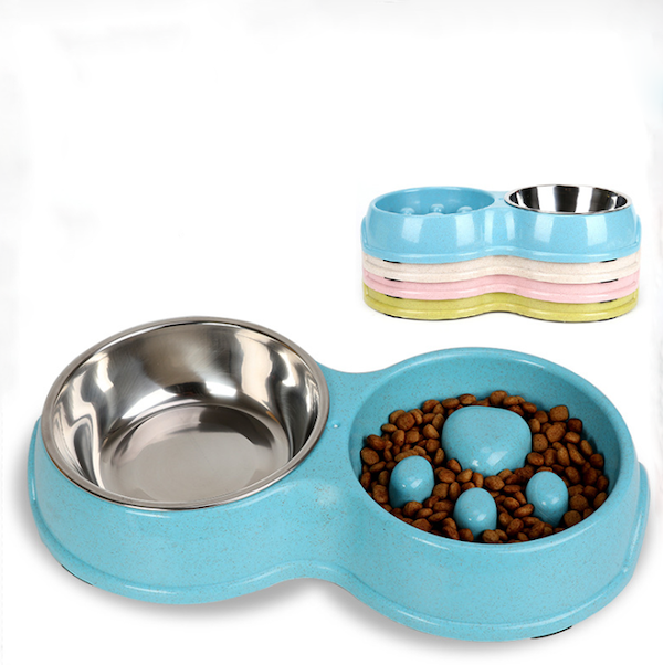 Silicone Double Pet Bowl Mold for Dogs Cats Feeder