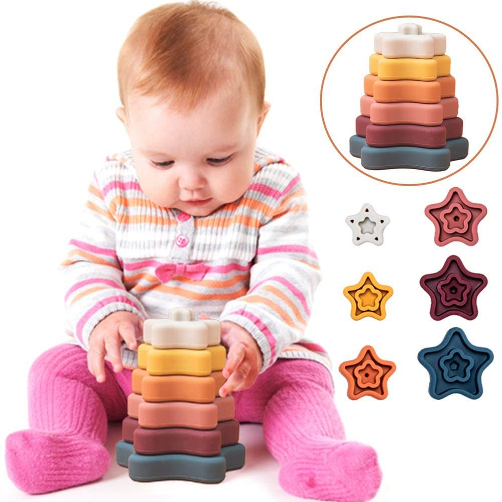 Silicone Stacking Rings Toy Mold for Baby Sensory Development