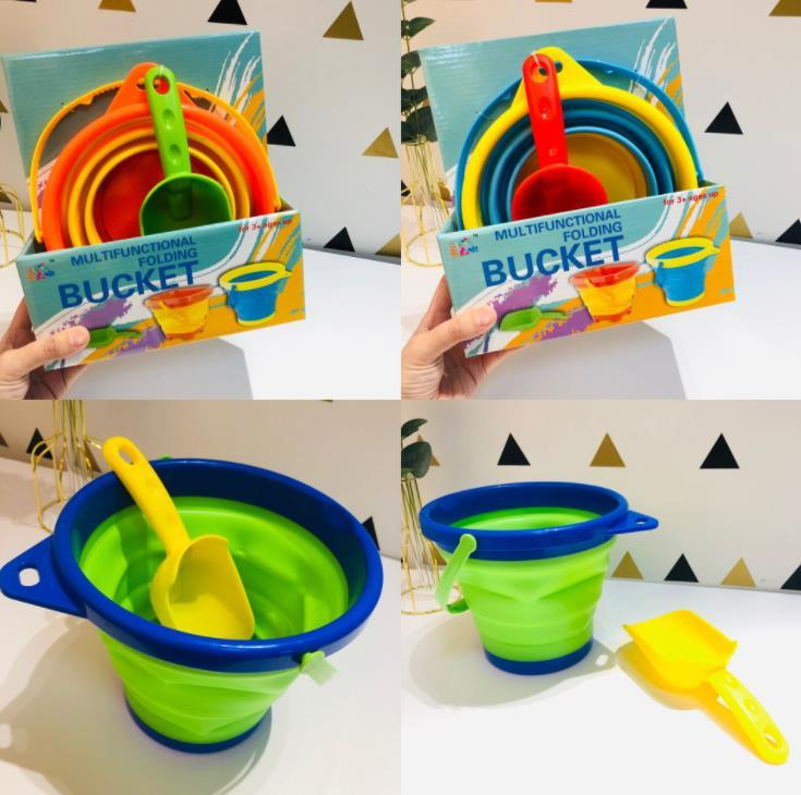 Silicone Telescopic Bucket Mold for Children Beach Outdoor Toys
