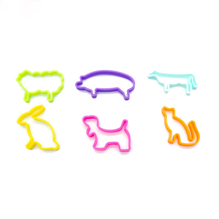 Multi-color Animal Shape Silicone Elastic Bands Mold for Girls Hair