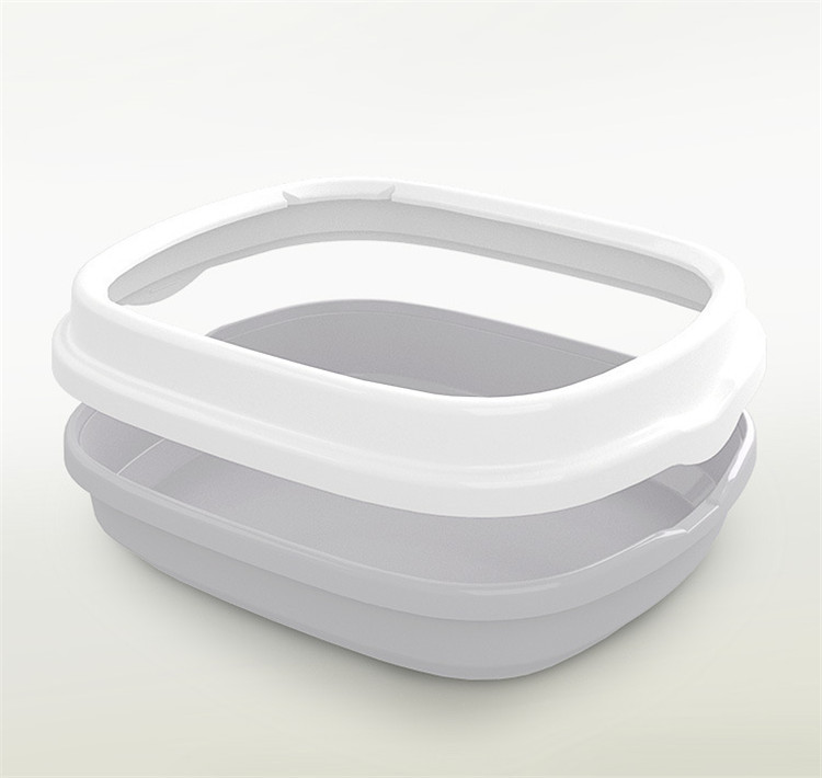 Semi-closed Silicone Cat Litter Toilet Mold for Cleaning Cat Litter